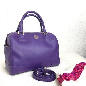 🌸OFFERS?🌸Tory Burch Leather Purple Satchel